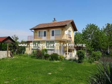 For sale is a large renovated house in the village of Diulevo, only within 25 km from the city of Bourgas and the sea.