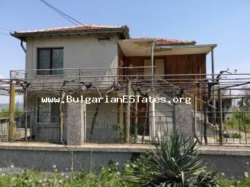 For sale is a massive two-storey house in the village of Debelt, 20 km from Bourgas and the seashore.