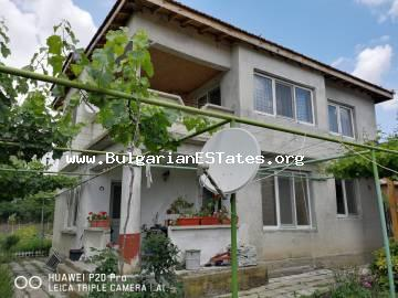 Attractive offer!!! A solid two-storey house is for sale in the village of Asparuhovo, 27 km away from the sea and the city of Bourgas.