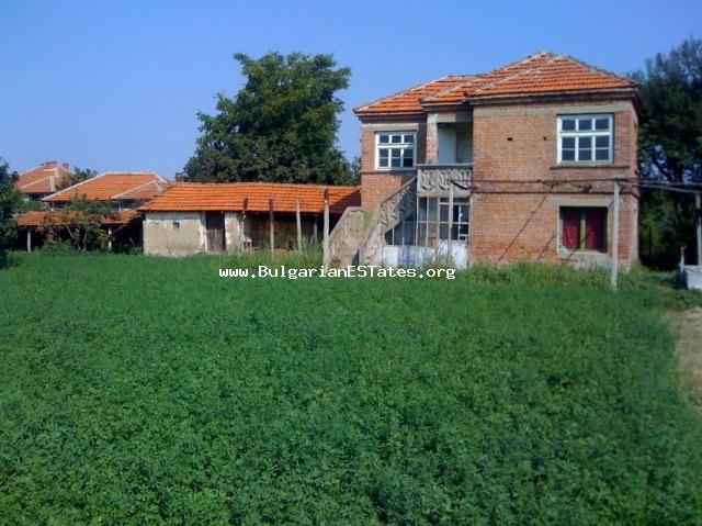 Two-storey house is for sale in the village of Tenevo, Yambol Region.