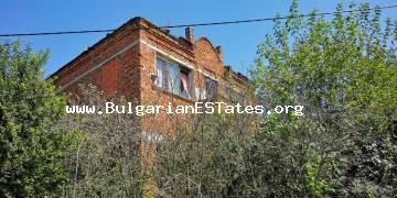 Affordable two-storey house is for sale in the village of Drachevo, 22 km from the city of Burgas and the sea.