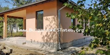 We are selling an affordable new house in the village of Golyamo Bukovo, 50 km from the city of Bourgas and the sea.