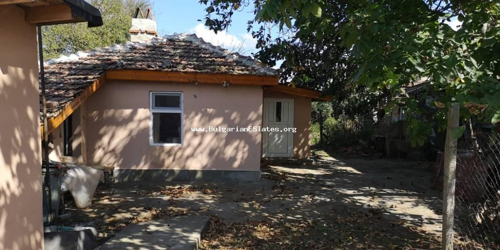 Affordable one-storey renovated house is for sale in the village of Konstantinovo just 10 km from the city of Burgas and the sea.