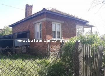 An affordable house is offered for sale in the village of Svetlina, 35 km from the city of Burgas and the sea.