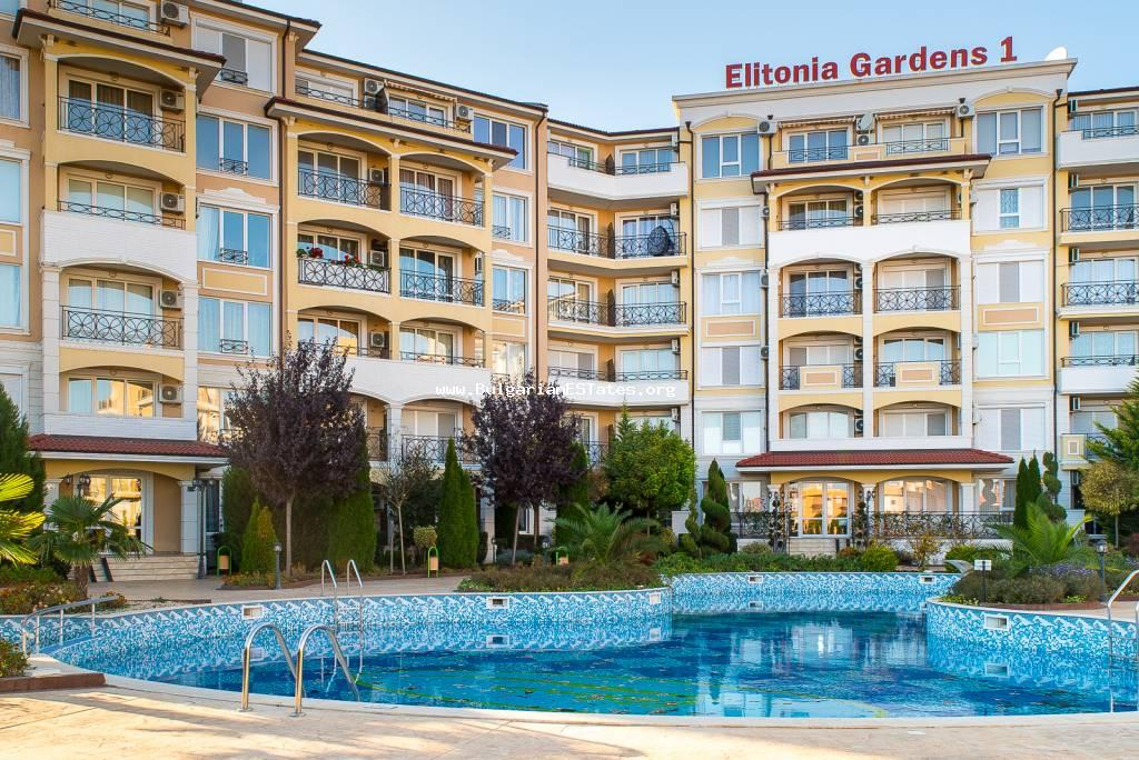 Luxurious one-bedroom apartment is for sale in the town of Ravda.