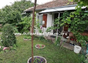 Affordable one-storey house is for sale in the village of Dyulevo, just 25 km from the city of Burgas and the sea.