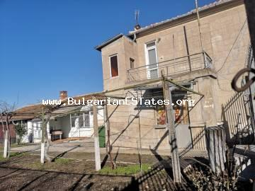 Renovated two-storey house is for sale located in the town of Kableshkovo, 20 km from Bourgas.