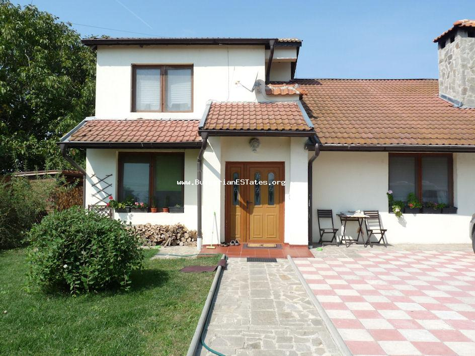 We offer for sale a luxury two-storey house in the village of Trastikovo, only 15 km from the city of Bourgas.