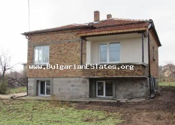 Solid house is for sale in Rudnik quarter, Burgas, just 9 km from the beach.