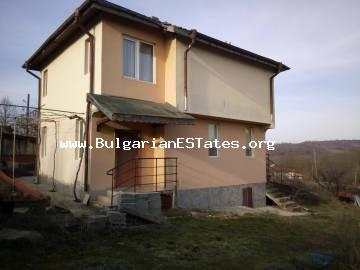 New two-storey house is for sale in the village of Prokhod, 40 km from the city of Bourgas and 12 km from the town of Sredets.