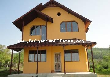 Newly built two-storey villa in quiet village Goritza is offered for sale, 15 km from Sunny Beach resort