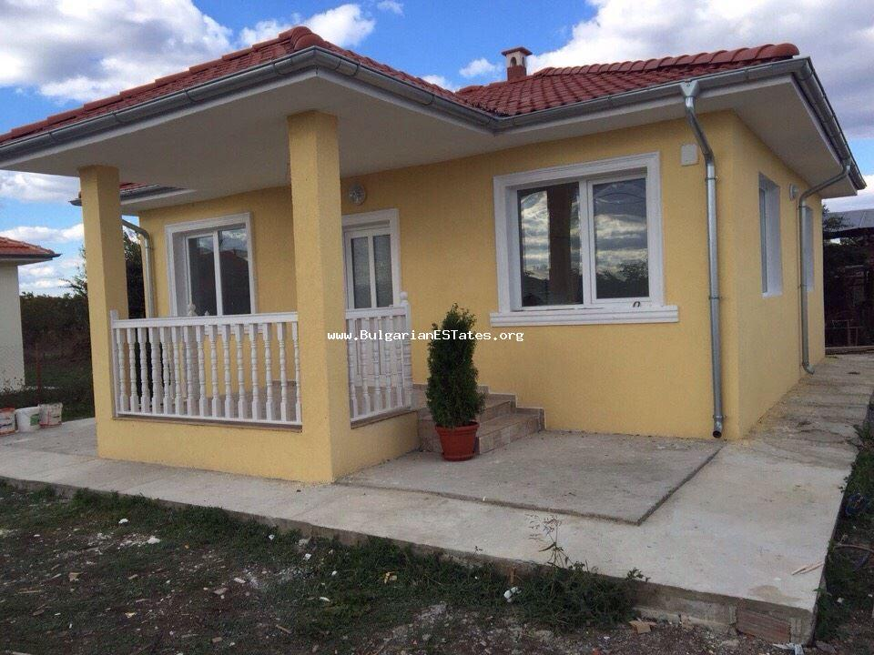 We offer for sale a new one-storey house in the village of Trastikovo, just 15 km from Bourgas and the beach.