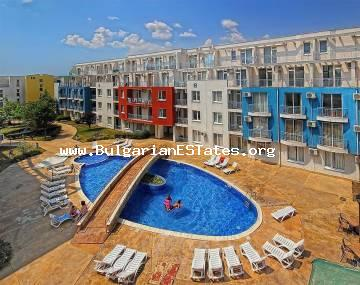 "We offer for sale an inexpensive two-bedroom apartment in the complex ""Sunny Day 3"", Sunny Beach resort."