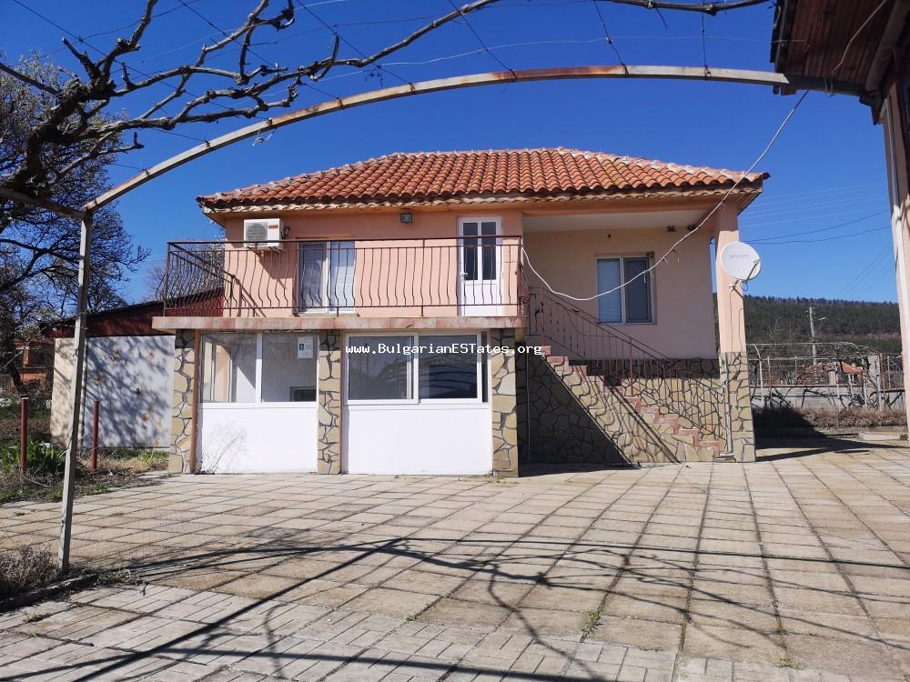Renovated two-story massive house for sale in the picturesque village of Prilep, located at the foot of Stara Planina Mountain.