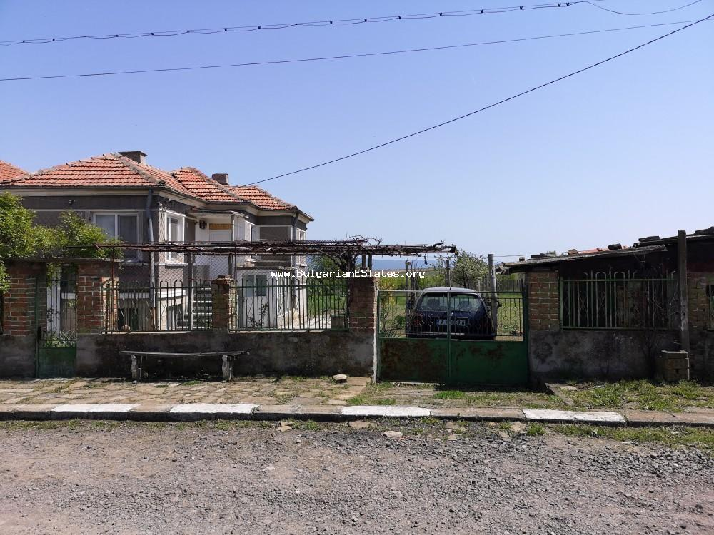 Renovated house is for sale in the village of Stratsin, just 25 km from Aheloy and the sea and 40 km from Burgas.