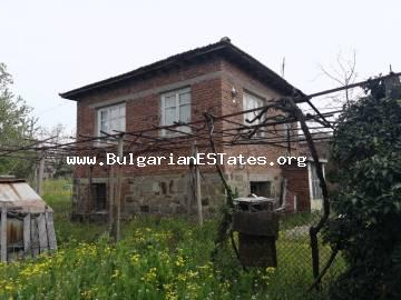 Affordably a house is for sale in the village of Troyanovo, 30 km from the city of Burgas.