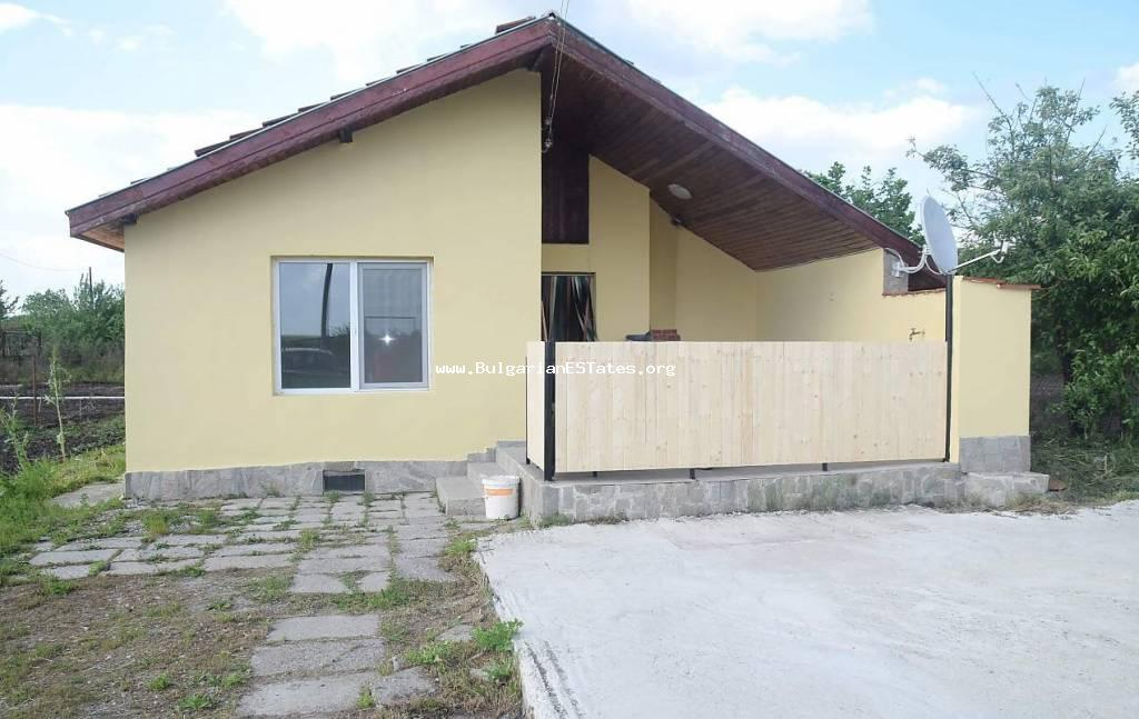 Cheap rural property for sale – one-storey house after repairs in the village of Trastikovo only 15 km from Bourgas, Bulgaria.