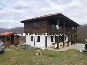 New house is for sale in the village of Kosti, 25 km from the sea and the resort town of Tsarevo.