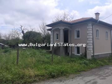 Affordably for sale is a renovated two-storey house in the village of Momina Tsarkva, 55 km from the city of Burgas and the sea.