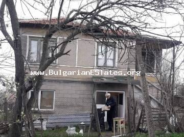 Two-storey house is for sale with a large yard in the village of Voinika, 68 km from Burgas and the sea and 30 km from the beautiful city of Yambol.
