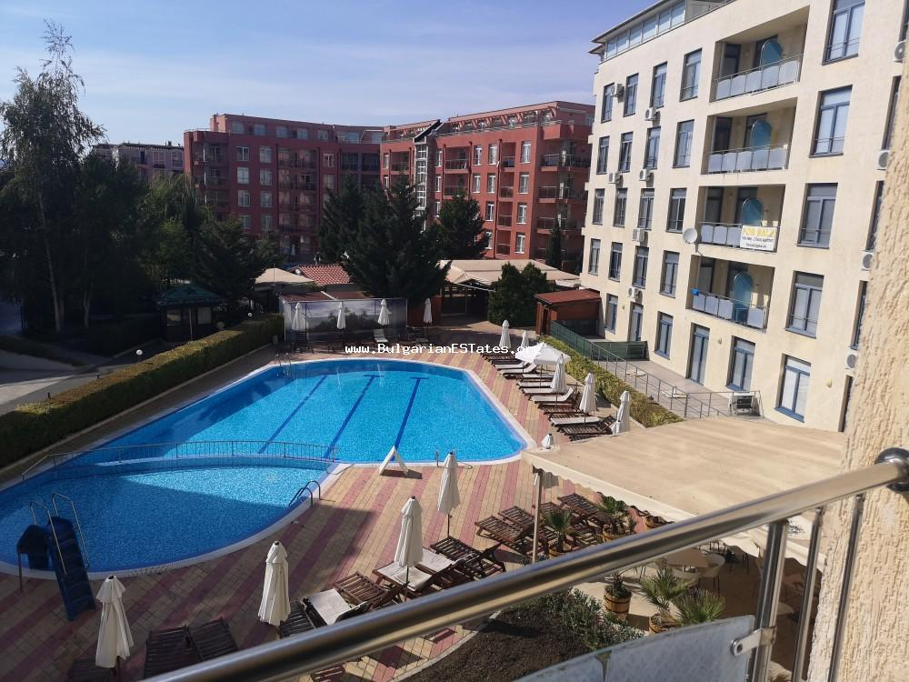"A big studio is for sale affordably, with the opportunity to be converted into a one bedroom apartment just 300 meters from the beach in Sunny Beach, ""Rainbow Complex""!!"