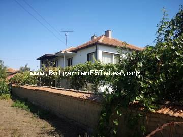Two-storey house is for sale in the village of Tenevo, 15 km from the city of Yambol and 115 km from the sea and the city of Burgas.