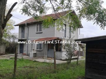 Two-storey massive house is for sale in the village of Livada, just 20 km from Burgas and the sea.