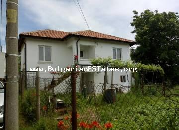 Partially renovated house is for sale in the village of Stoilovo, 45 km from the town of Tsarevo and the sea.