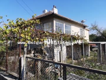 Partially renovated two-storey house in the village of Dyulevo, only 25 km from the city of Burgas and the sea, is offered for sale affordably.