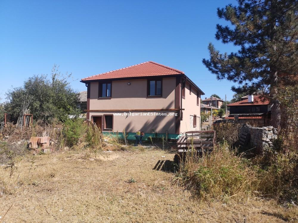 Top offer!!! Fully renovated solid two-storey house is for sale in the picturesque village of Prohod, only 10 km from the town of Sredets and 40 km from Burgas and the sea.