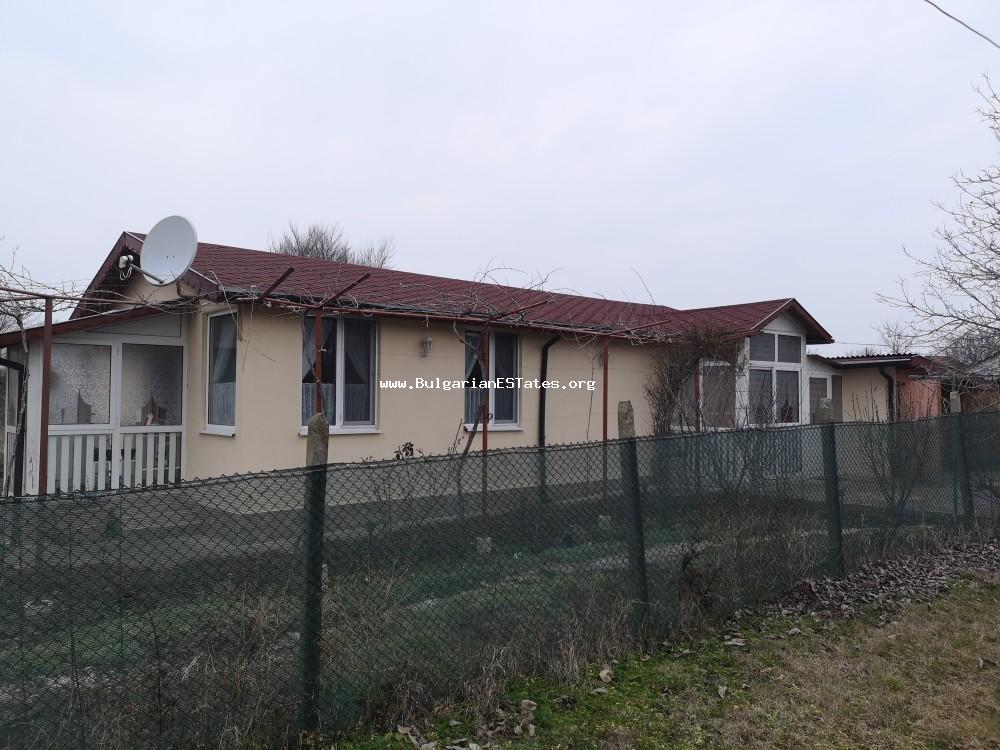 We offer for sale an affordable new house with a possibility for constructing a second one in the village of Polski Izvor, just 20 km from the city of Bourgas and the sea, Bulgaria.
