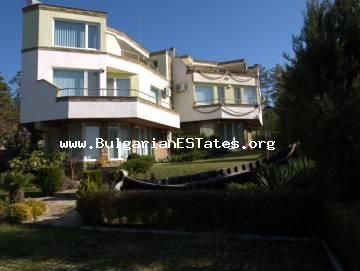 We offer for sale a large and modern house just 200 meters from the beach in Sunny Beach resort, Bulgaria.