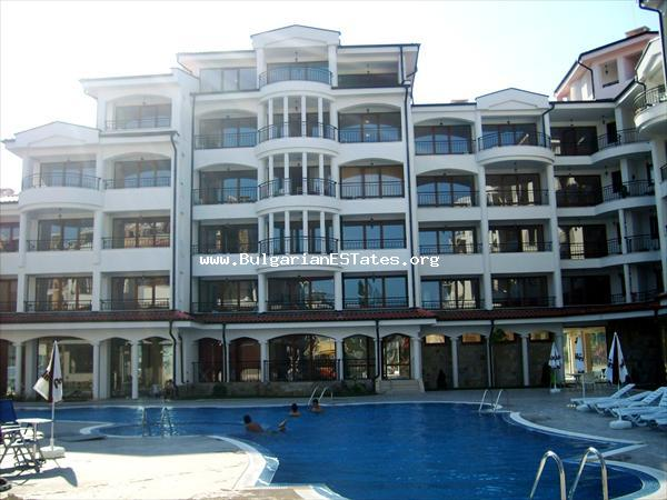"Large furnished studio for sale in the ""Chateu Valon Complex"" resort Sunny Beach."