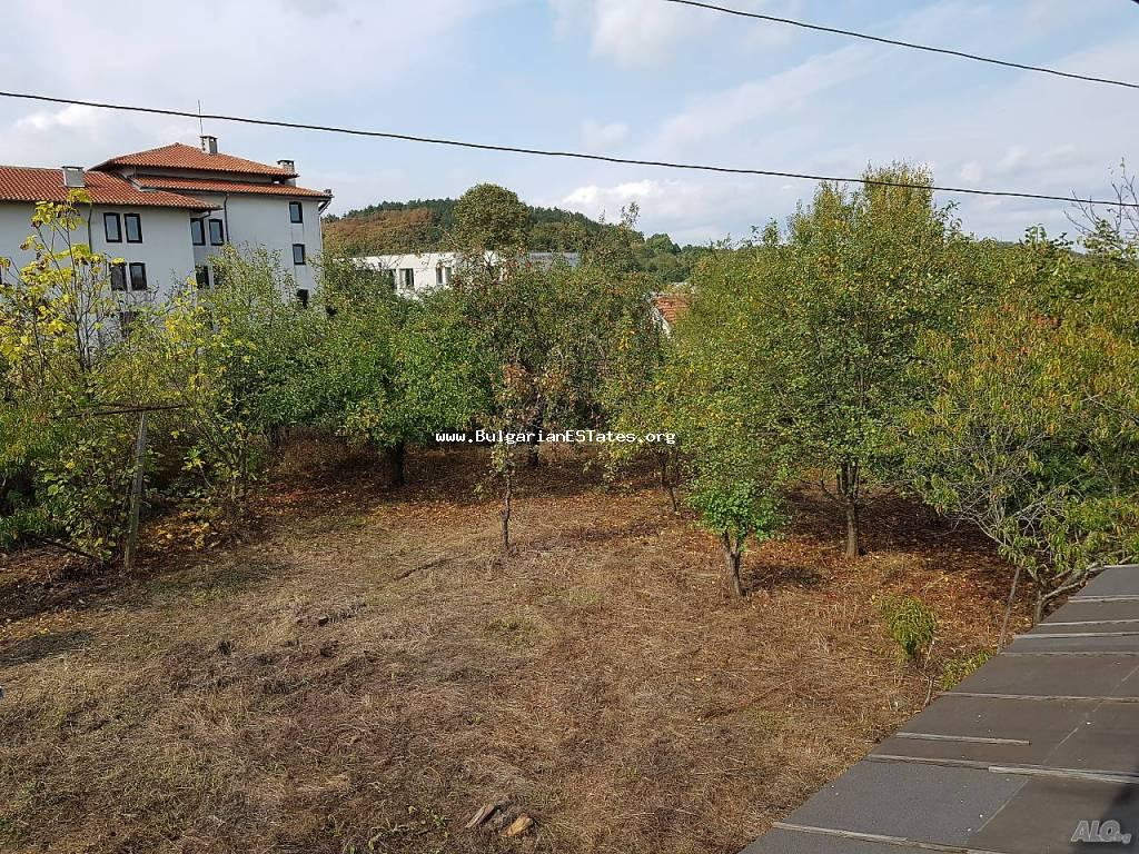 Massive two-storey house is for sale in the village of Gramatikovo, just 35 km from the town of Tsarevo and the sea, in the heart of the Strandzha mountains, Bulgaria.