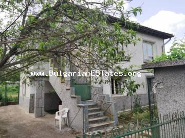 A massive two-storey house is for sale in the village of Dyulevo, only 25 km away from the city of Burgas and the Black sea coast.