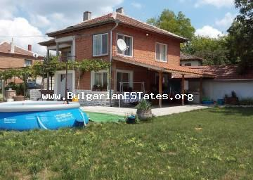 Renovated two-storey house for sale in the village of Stefan Karadzhovo, 70 km from Burgas and the sea.