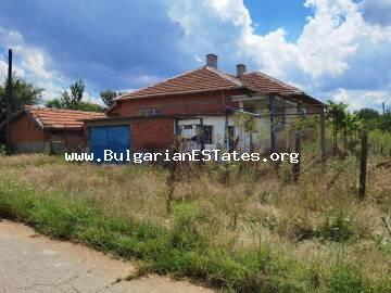 Affordable one-storey house for sale in the village of Stefan Karadjovo, 70 km away from the city of Burgas and the sea.