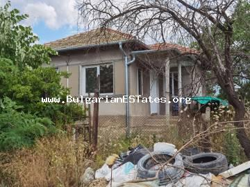 Partially renovated two-storey house for sale in the village of Asparuhovo, only 27 km from the city of Burgas and the sea.