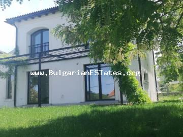 Lovely new house with garden and parking space for sale in the village of Velika, at the foot of Strandzha mountains, only 5 km from the sea, in the area near Lozenets resort.