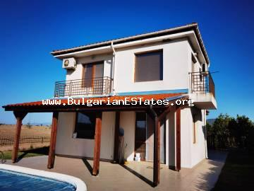 TOP OFFER! A new two-storey house with a swimming pool is for sale just 10 minutes from the Sunny Beach resort and the sea.