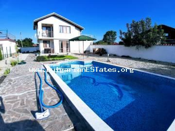 TOP OFFER!!! Affordably a new house is for sale with a swimming pool in the village of Trastikovo, just 15 km from the city of Burgas and the sea.